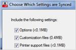 Sincronización de personalizaciones—NUEVA (sólo Windows)